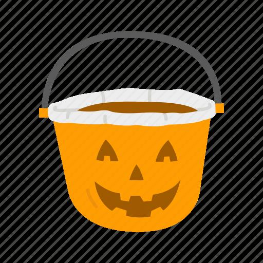 halloween, holidays, horror, pumpkin, pumpkin basket, spooky icon