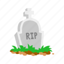 cemetery, gravestone, halloween, holidays, horror, spooky, tombstone icon