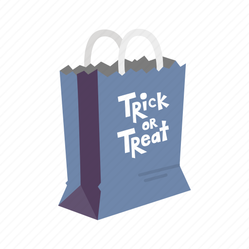halloween, holidays, horror, paper bag, spooky, trick or treat, trick or treat bag icon
