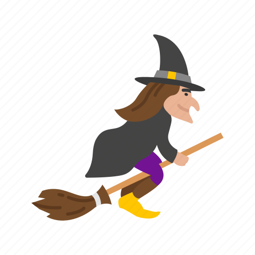 broomstick, enchantress, halloween, holidays, horror, spooky, witch icon
