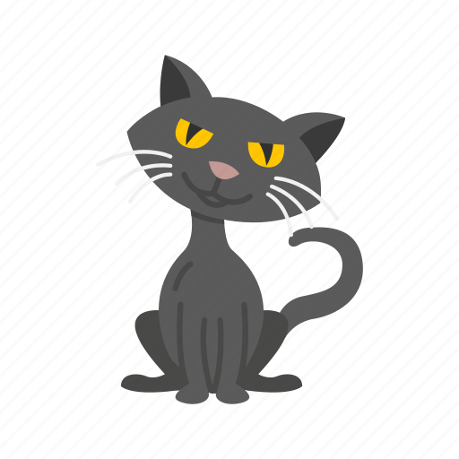 bad luck, black cat, cat, halloween, holidays, horror, spooky icon