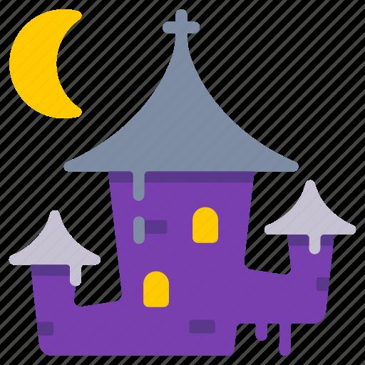 dracula, halloween castle, haunted, spooky, transylvania, vampire icon