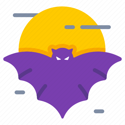 bat, halloween, haunted, moon, nocturnal, spooky, vampire icon