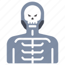 bone, halloween, holiday, horror, scary, skeleton, skull icon