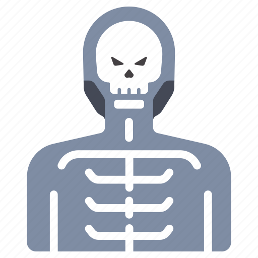 bone, halloween, holiday, horror, scary, skeleton, skull icon