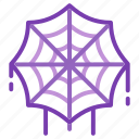 cobweb, creepy, halloween, spider web, spooky icon