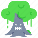 evil, halloween, haunted, horror, spooky, tree, willow tree icon