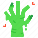 dead, halloween, hand, horror, scary, spooky, zombie icon