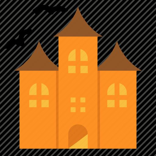 castle, dark, halloween, haunted, horror, house, scary icon
