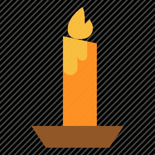 candle, dark, halloween, light icon