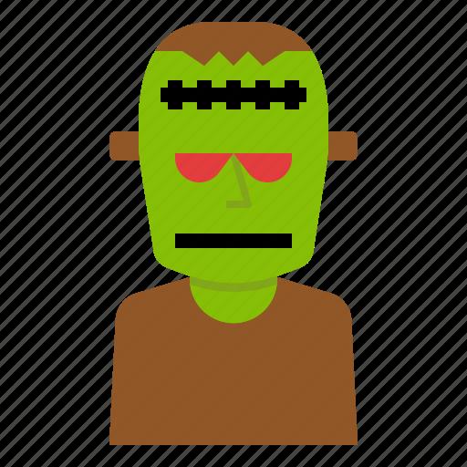 cartoon, frankenstein, ghost, halloween, zombie icon