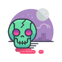 halloween, scary, skeleton, skull, spooky, zombie icon