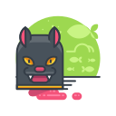 animal, cat, halloween, pet, scary, spooky icon