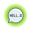 halloween, hello, scary, speech, spooky icon