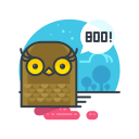 animal, boo, halloween, owl, scary, spooky icon