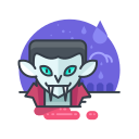 costume, halloween, monster, scary, spooky, vampire icon