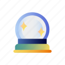 magic, wizard, magical, crystal, fortune, orb, teller icon