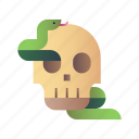 danger, halloween, serpent, skeleton, skull, snake, spooky