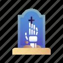 cemetery, grave, gravestone, graveyard, halloween, memorial, tombstone icon