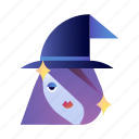 fantasy, halloween, hat, magic, spooky, witch, witchcraft icon