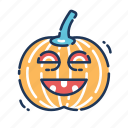 carved, carving, halloween, horror, pumpkin, scary, spooky icon