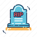 cemetery, death, halloween, rest in peace, rip, tomb, tombstone icon