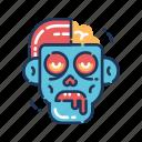 brains, dead, demon, halloween, walker, walking dead, zombie icon