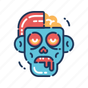 zombie, brains, dead, halloween