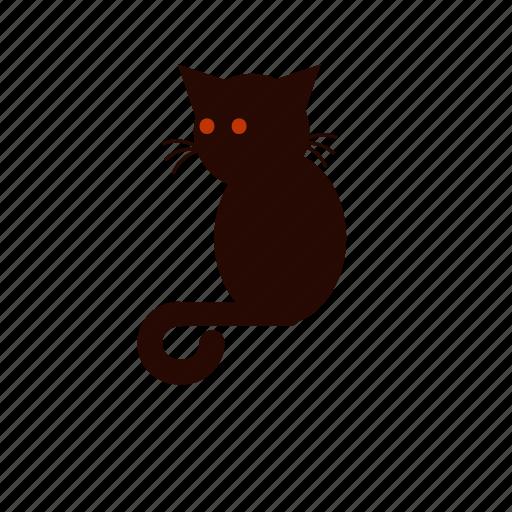 cat, demon cat, evil, halloween, scary icon
