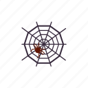 death, hallowee, scary, spider, spiderweb icon