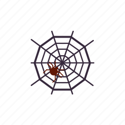 death, hallowee, scary, spider, spiderweb icon