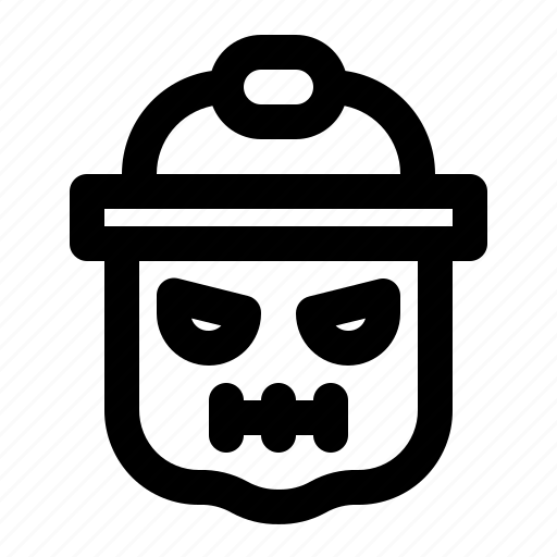 bucket, festival, halloween, holiday, party, pumpkin, trick or treat icon