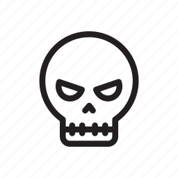 design, festival, ghost, halloween, head, horror, skull icon