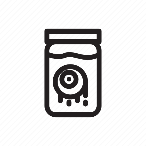 design, eyes, ghost, halloween, horror, jar, water icon