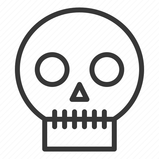 Bone, halloween, horror, scary, skull, spooky icon - Download on Iconfinder
