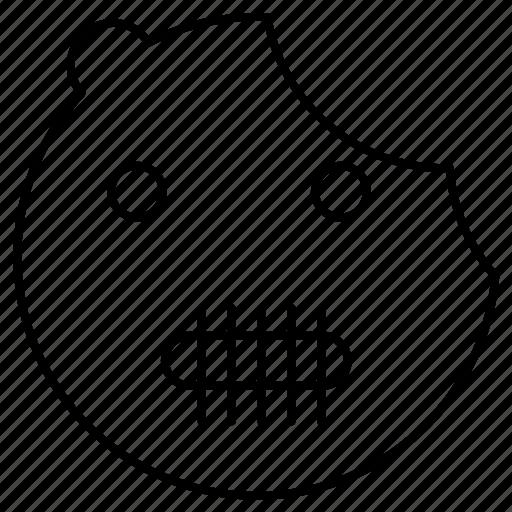 bear, halloween, scary icon