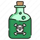 bottle, chemical, flask, liquid, poison, potion, toxic icon