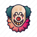 carnival, circus, clown, creepy, halloween, joker, scary icon