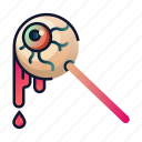 candy, creepy, eyeball, halloween, snack, spooky, trick or treat icon