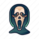 creepy, death, ghost face, halloween, horror, scary, spooky icon