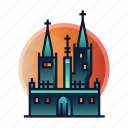 dracula, halloween castle, haunted, spooky, transylvania, vampire icon