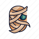 ancient, egyptian, halloween, horror, mummy, spooky icon