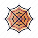 cobweb, creepy, halloween, spider web, spooky, tangled icon