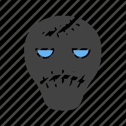 cartoon, face, frankenstein, halloween, horror, party icon