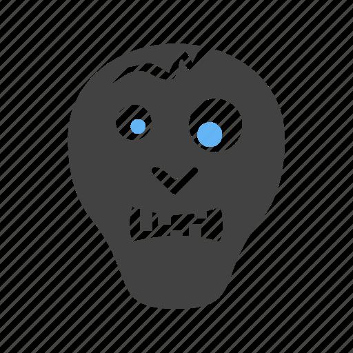 dead, face, horror, skull, tattoo, zombie icon
