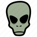 alien, extraterestrial, halloween icon
