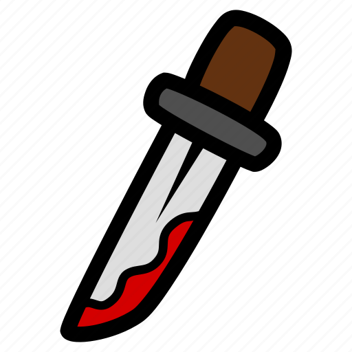 bloody, halloween, knife icon