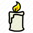 candle, halloween, light icon