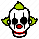 clown, creepy, halloween icon