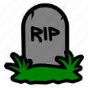 grave, gravestone, halloween, headstone icon